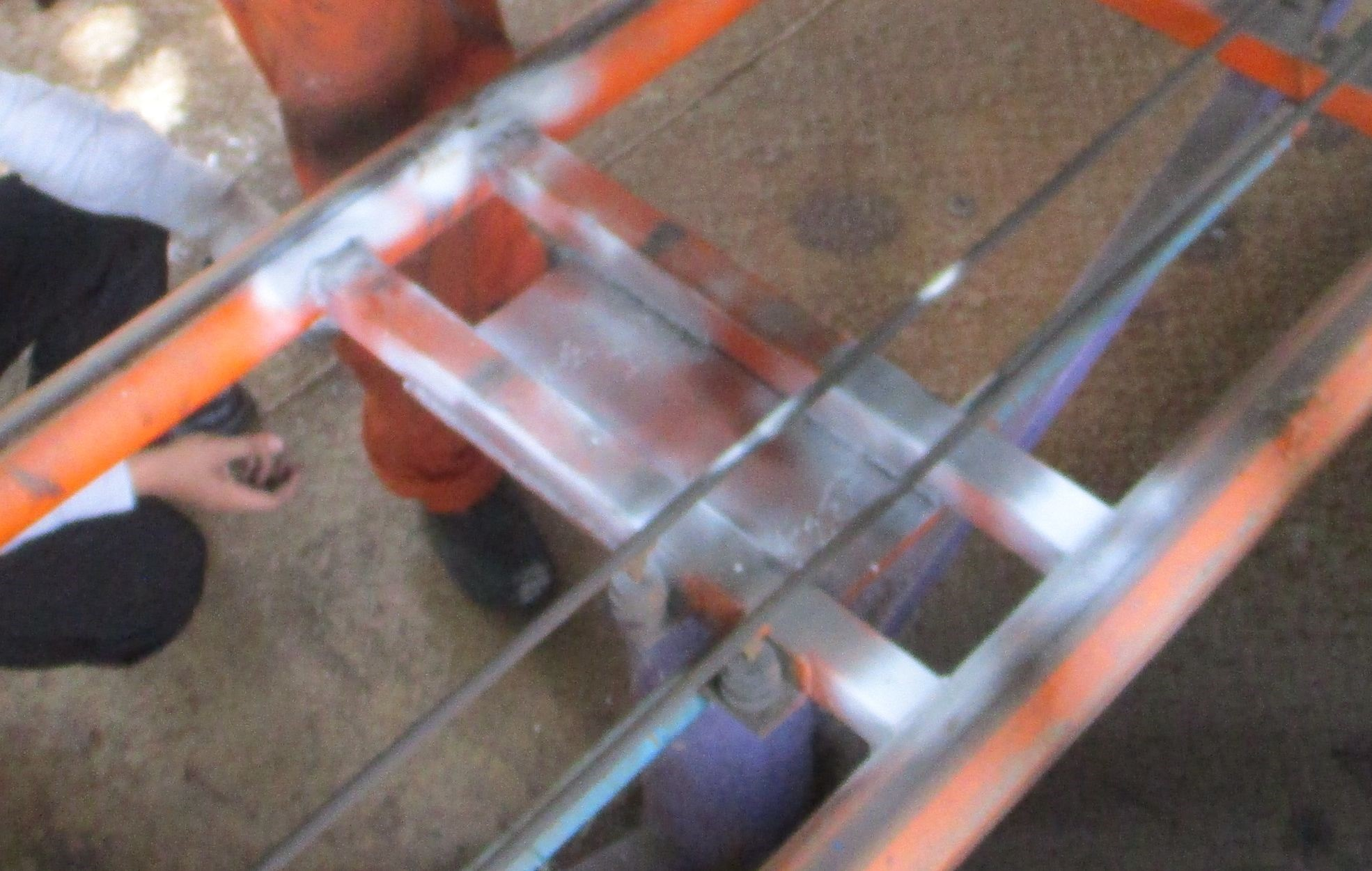 mt inspection on weld joints of support plates  pipes